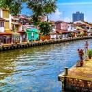 Malacca Waterway in Malaysia