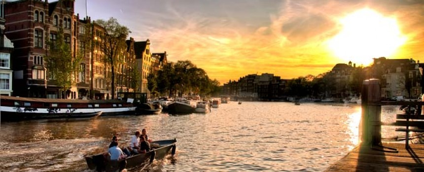 Amsterdam Sunset in Netherlands