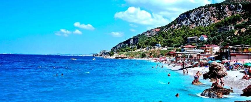 Jonufer beach in Albania