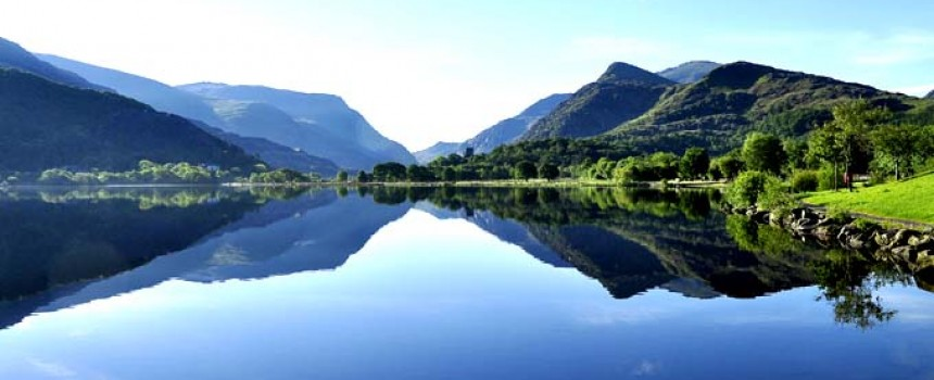 Padarn lake in Wales