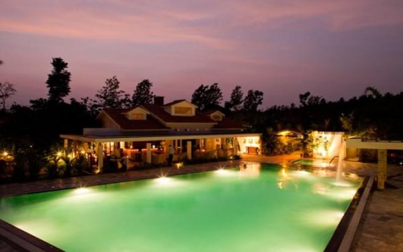 Amanvana Luxury Boutique Spa Resort at night