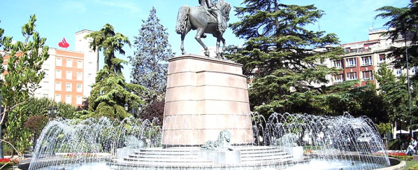 Square of Paseo del Príncipe de Vergara