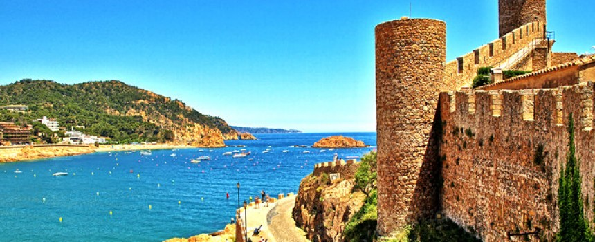 The Beach & Castle Walls in Tossa De Mar