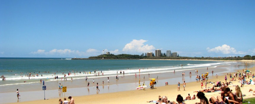 Mooloolaba Beach in Queensland