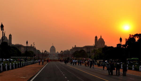 Romantic Sunset View from India Gate, Delhi