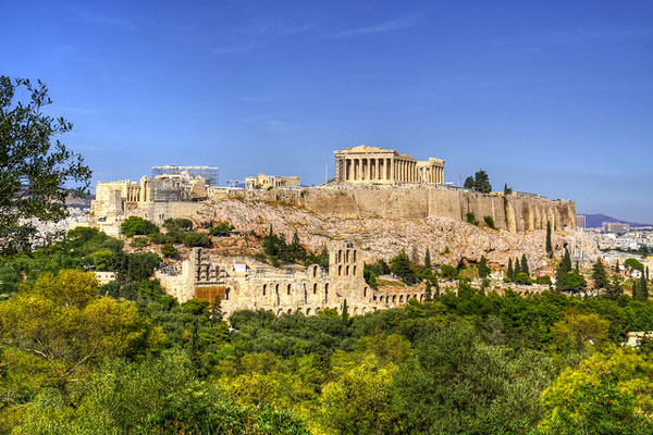 The ancient monument, Acropolis of Athens