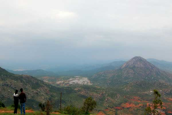 Gazing the scenic view at Nandi Hills