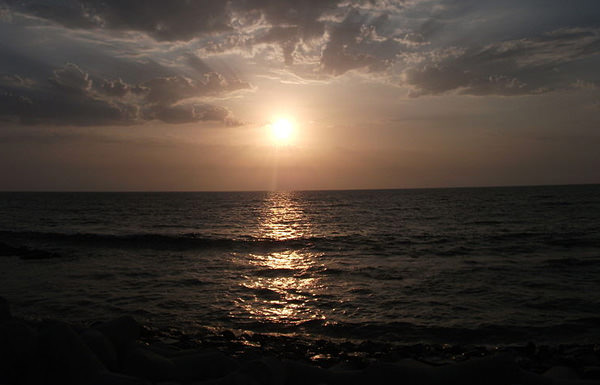 Mumbai Worli Seaface evening sunset