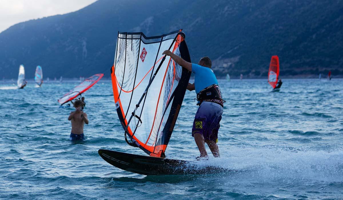 Windsurfing-in-Greece
